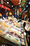 Asie, Japon. Kyoto, marché alimentaire Nishiki