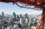 Asie, Japon, Tokyo, tour de Tokyo, les toits de la ville