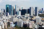 Asie, Japon, Tokyo, city skyline view from Tokyo Tower