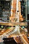 Asie, Japon, Tokyo, city skyline view from Tokyo Tower, lampes de voiture pendant la nuit