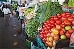 Vegetable stalls in municipal market, Maputo, Mozambique