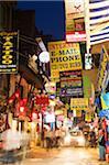 Asia, Nepal, Kathmandu, Nepal, neon lights of Thamel