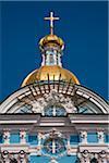 St. Nicholas' Cathedral, gebaut zwischen 1753 und 1762 für den Einsatz von Matrosen und Marine-Mitarbeiter, ist ein schönes Beispiel des russischen Barock-Architektur. St Petersburg, Russland.