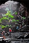 Jameos del Agua, architecture et nature de l'artiste César Manrique. Île de Lanzarote. Appartient aux îles Canaries et sa formation est due à une activité volcanique récente.