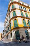 Maria Guerrero square, Malaga, Andalusia, Spain