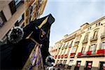 Dummy in Marques de Larios street -the main street- during the Malaga Film Festival, Malaga, Andalusia, Spain