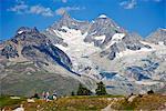 Mountain route around the Matterhorn, Switzerland