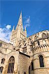 L'Angleterre, la cathédrale de Norwich, Norfolk