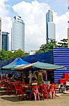 Malaisie, Kuala Lumpur, quartier de Kampung Baru, restaurant