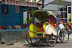 Pousse-pousse de Java, Yogyakarta, Indonésie