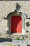 France, Pays de la Loire, Piriac-sur-Mer, porte d'une église