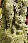 Indonesia, Bali, near Ubud, Tirta Empul temple, statue