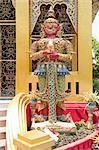 Thaïlande, Chiang Mai, temple Wat Phra Singh, statue
