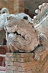 Thaïlande, Chiang Mai, temple Wat Lok Moli, détail