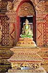 Thaïlande, Chiang Mai, temple de Wat Phra Singh, jade Buddha