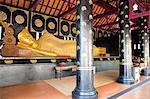 Thaïlande, Chiang Mai, Wat Chedi Luang temple, Bouddha couché