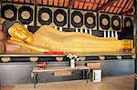 Thailand, Chiang Mai, Wat Chedi Luang temple, reclining Buddha