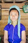 Thaïlande, Baan Luang de Thong, girafe-femme