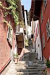 Italie, Lombardie, lake Como, Varenna, street
