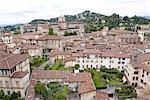 Italie, Lombardie, Bergame, vue générale
