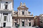 Italie, Ligurie, Gênes, église de Jésus et Saints Ambrose et Andrew