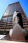 United States, Illinois, Chicago, Daley Plaza, modern sculpture