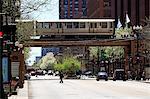 United States, Illinois, Chicago, elevated railway