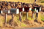 United States, Hawaii, island of Maui, mail boxes