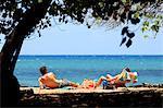 Aux États-Unis, Hawaï, l'île de Maui, touristes