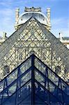 France, Paris (75), Ile de France, Musée du Louvre, la pyramide