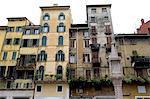 Italie, Verona, piazza delle erbe