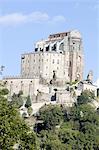 Italy, Piedmont, mount Pirchiriano, sacra di San Michele