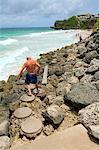 Barbade, baie de grue