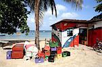 Barbados, Caribbean coast, bar on the beach
