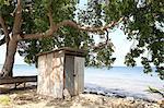La Barbade, la baie de Six hommes, cabane