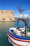 Grèce, Crète, Héraklion, fort vénitien et le port