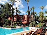 Maroc, Marrakech, hôtel et piscine