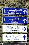 Morocco, Marrakech, roadsigns