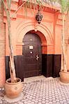 Morocco, Marrakech, entrance of riad
