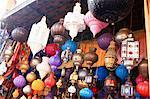Morocco, Marrakech, souk, lanterns