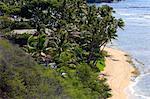 États-Unis, Hawaï, l'île de Oahu, plage Dimanond Head