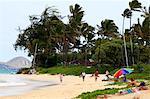 Aux États-Unis, Hawaï, l'île Oahu Kailua beach