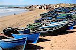 Maroc, village de Tifnit, bateau