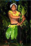 Traditional Tongan Dancer at Liku'alofa Resort, Liku'alofa, Tongatapu, Kingdom of Tonga