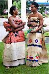 Danseurs traditionnels au Royaume des Tonga, Tongatapu, Nuku'alofa, Centre culturel National de Tonga