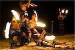 Traditional Fire Dancers at Oholei Beach Resort, Tongatapu, Kingdom of Tonga