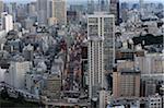 City View from Tokyo Tower, Tokyo, Kanto, Honshu, Japan