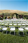 Seats Arranged for Wedding Ceremony, Livermore, California, USA