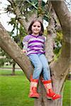 Girl Sitting in Tree