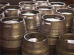 Barrels in brewery